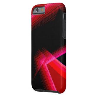 Rode Geometrisch over Zwarte iPhone 6 dekking Tough iPhone 6 Hoesje