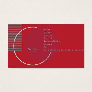 Rode Geometrische Cirkel - Zaken Visitekaartjes