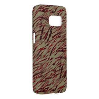 Rode Gestreepte Strepen Samsung Galaxy S7 Hoesje