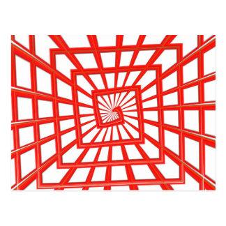 rode glanzende werveling briefkaart
