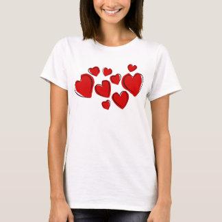 Rode harten t shirt
