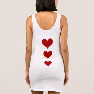 Rode harten Valentijn Mouwloze Jurk