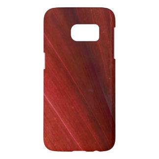 Rode Hawaiiaanse Dichte Omhooggaand van het Blad Samsung Galaxy S7 Hoesje