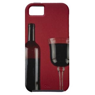 Rode het glasfles van de wijn tough iPhone 5 hoesje