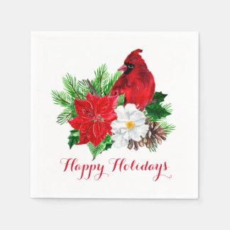Rode Hoofd Rode Kerstmis van de Denneappels van Wegwerp Servetten