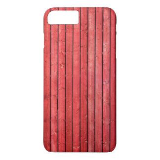 Rode houten plankeniPhone 7 plus hoesje