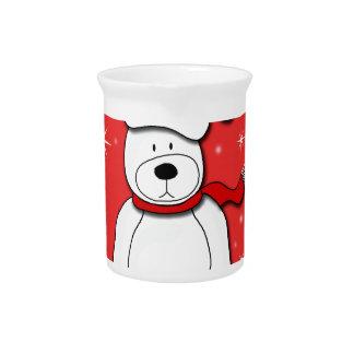 Rode ijsbeer drink pitcher