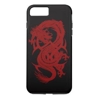 Rode iPhone 7 van Xiuhcoatl van de Draak Hoesje
