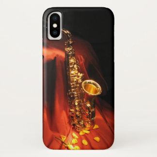 Rode iPhone X van de Saxofoon Hoesje