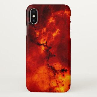 Rode iPhone X van het Patroon van de Melkweg van