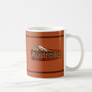Rode Kangoeroe in Pet Slouch Koffiemok