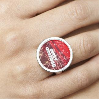 Rode Kerstmis Foto Ring