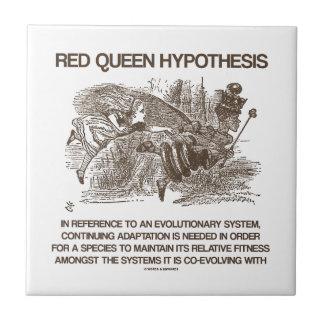 Rode Koningin Hypothesis (Sprookjesland Alice Red  Keramisch Tegeltje