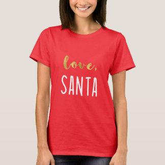 Rode Liefde, Kerstman | Trendy Goud Faux van de T Shirt