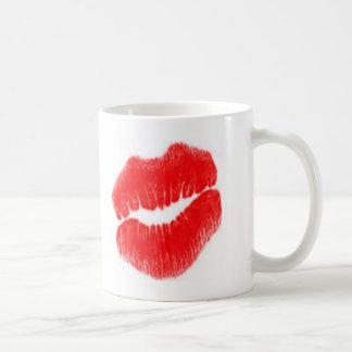 Rode Lippen Basic Witte Mok