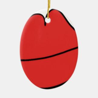Rode Lippen Keramisch Ovaal Ornament
