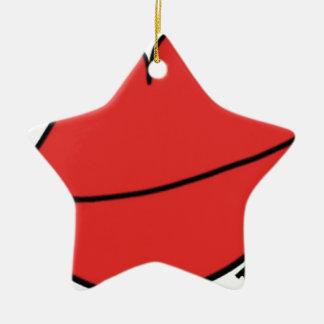 Rode Lippen Keramisch Ster Ornament