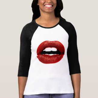 rode lippen t shirt