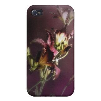 rode magische daglelies 4 iPhone 4/4S hoesje