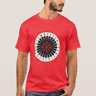 rode mannenT-shirt met groot embleem T Shirt