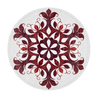 Rode Marmeren Sneeuwvlok Snijplank