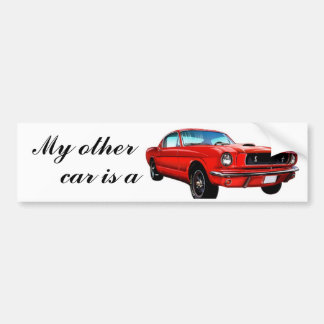 Rode Mustang Bumpersticker