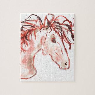 Rode Mustang Puzzel