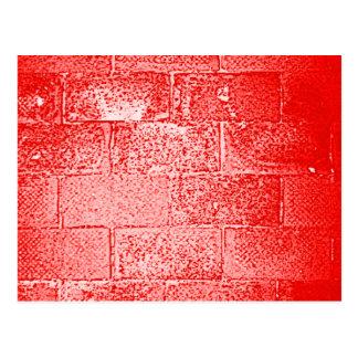Rode Muur. Digitaal Art. Briefkaart