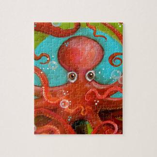 Rode Octopus 1 Ontwerp Puzzel
