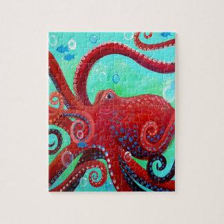 Rode Octopus Legpuzzel