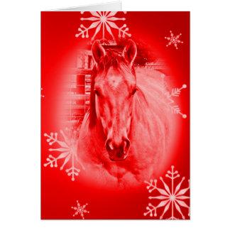 Rode Paard & Sneeuwvlokken Briefkaarten 0