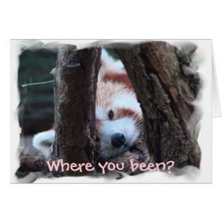 """Rode Panda notecard: """"Waar u? Ik mis u! """" Briefkaarten 0"""