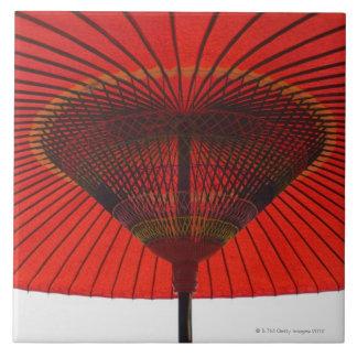 Rode paraplu 2 tegeltje