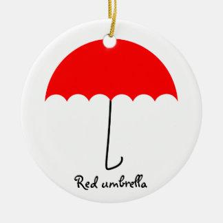 Rode paraplu rond keramisch ornament