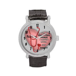 Rode Pediatrische Verpleegster Horloge