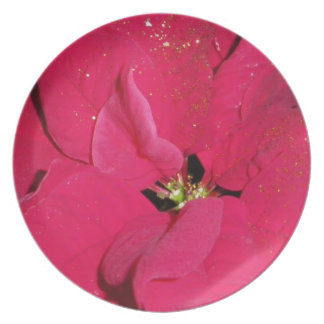 Rode Poinsettia Diner Bord