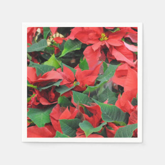 Rode Poinsettia Wegwerp Servetten