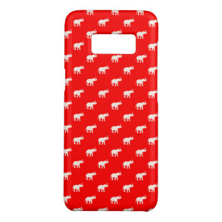 RODE Rode Olifant in polkadots Case-Mate Samsung Galaxy S8 Hoesje