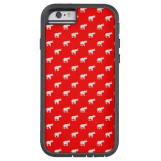 RODE Rode Olifant in polkadots Tough Xtreme iPhone 6 Hoesje