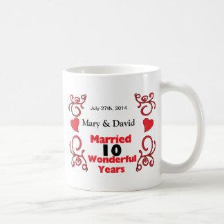 Rode Rol & de Namen & de Datum van Harten het Koffiemok
