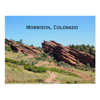 rode rotsen in Morrison, Colorado Briefkaart