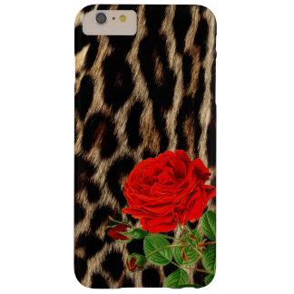 Rode roze Jachtluipaard Barely There iPhone 6 Plus Hoesje
