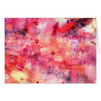 Rode roze waterverfkaart kaart