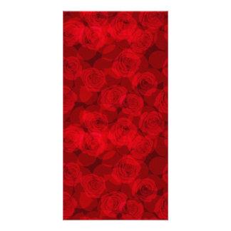 Rode rozen kaart