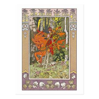 Rode Ruiter door Ivan Bilibin Briefkaart