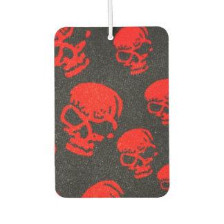 Rode Schedels op Zwarte Luchtverfrisser