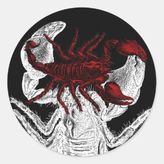 Rode Schorpioen - Sticker