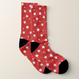 Rode Sokken met Witte Sterren