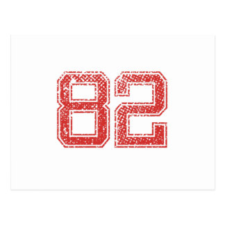 Rode Sporten Jerzee Nummer 82 Briefkaart