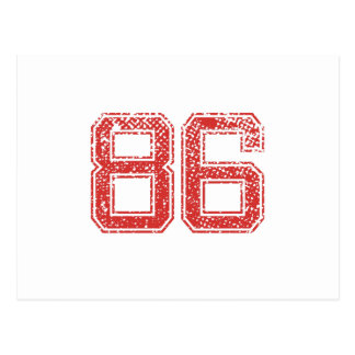 Rode Sporten Jerzee Nummer 86 Briefkaart